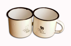 Chow Chow Engraved Tin Mugs