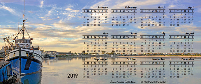 Magnetic Calendar 2019  - Arno Marais Collection