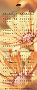 Magnetic Calendar 2019 - Floral Whimsy Collection