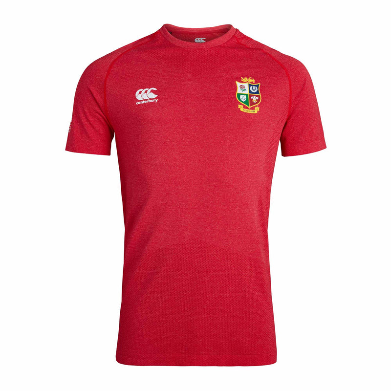 British & Irish Lions Seamless T-Shirt - Red - Absolute Rugby