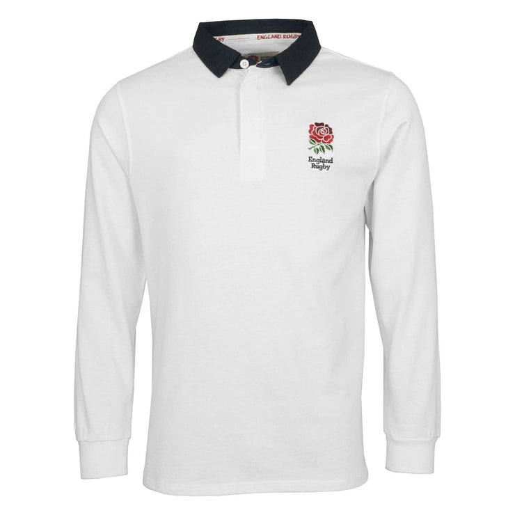 England Rugby 19/20 L/S Rugby Shirt - White - Six Nations Rugby