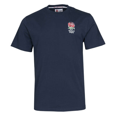 England Rugby 19/20 Small Logo T-Shirt - Navy - Six Nations Rugby