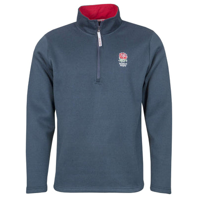 England Rugby Kids Zip Neck Sweater - Six Nations Rugby