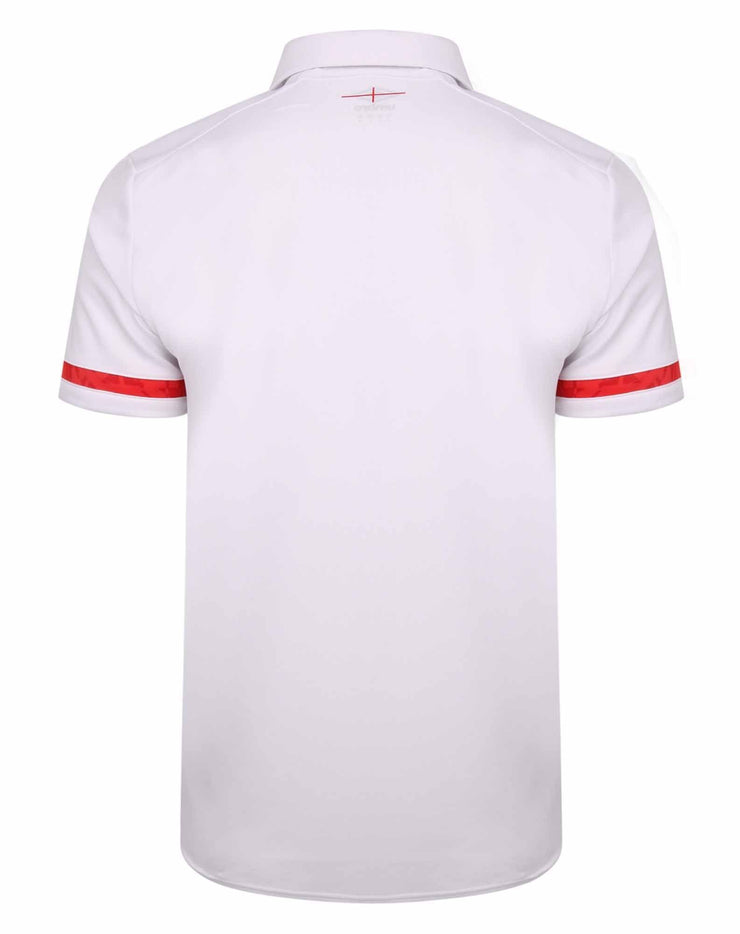 England Rugby Poly Polo - White I 20/21 - Absolute Rugby