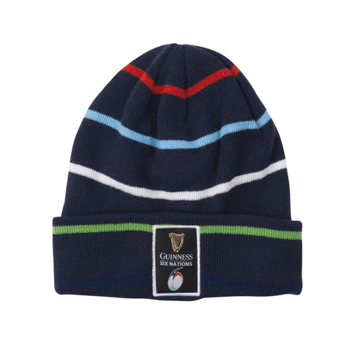 Guinness Six Nations Striped Beanie - Absolute Rugby