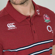 England Rugby 19/20 Stripe Jersey Polo - Red