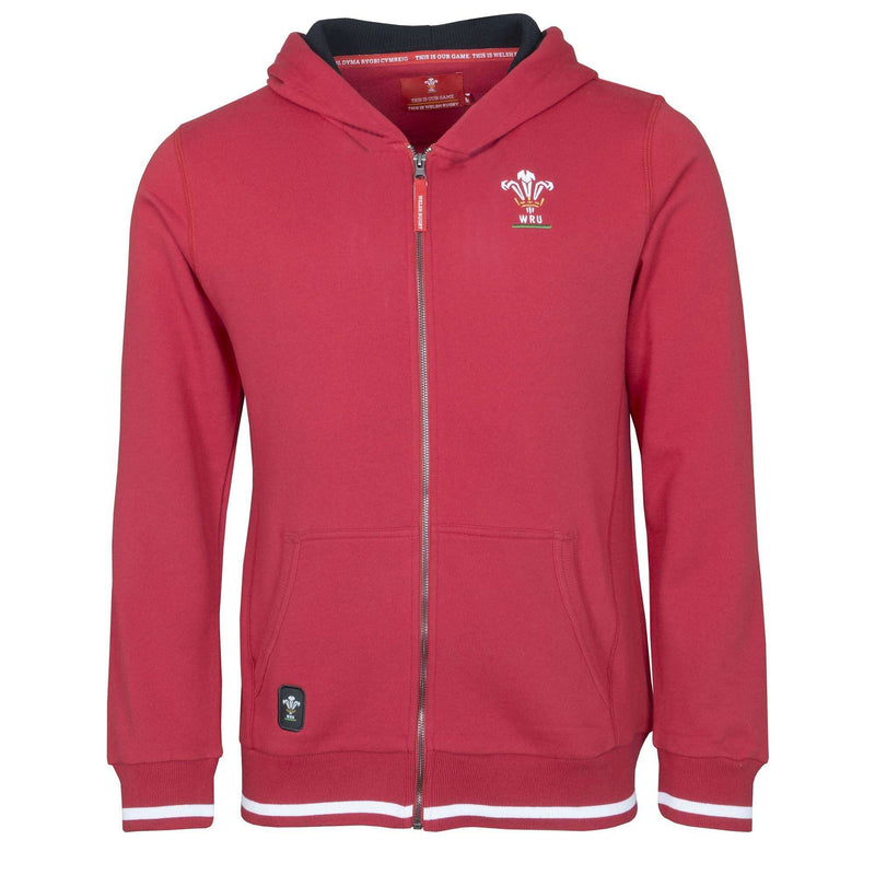 Wales Rugby 19/20 Kids Full Zip Hoodie - Six Nations Rugby