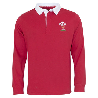 Wales Rugby 19/20 L/S Rugby Shirt - Six Nations Rugby
