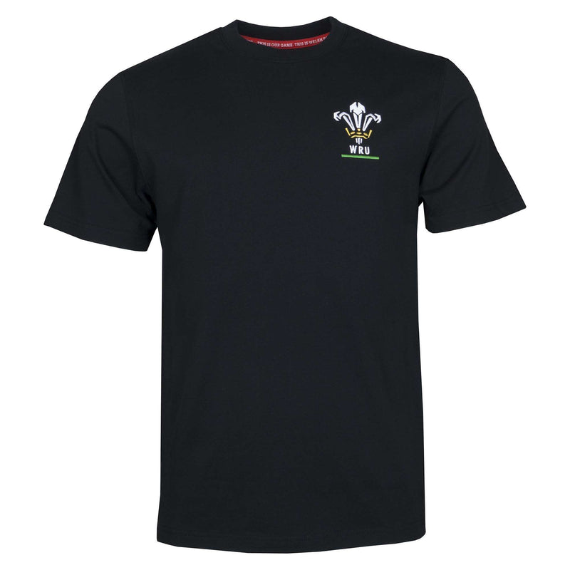 Wales Rugby Kids Logo Tee - Black - Six Nations Rugby