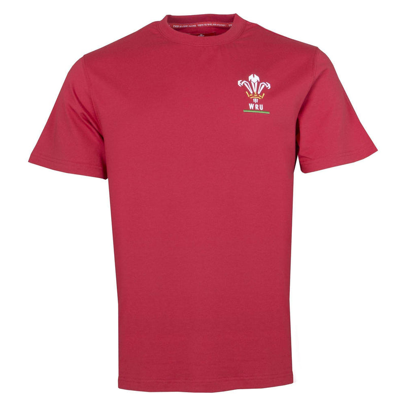 Wales Rugby Kids Logo Tee - Red - Six Nations Rugby
