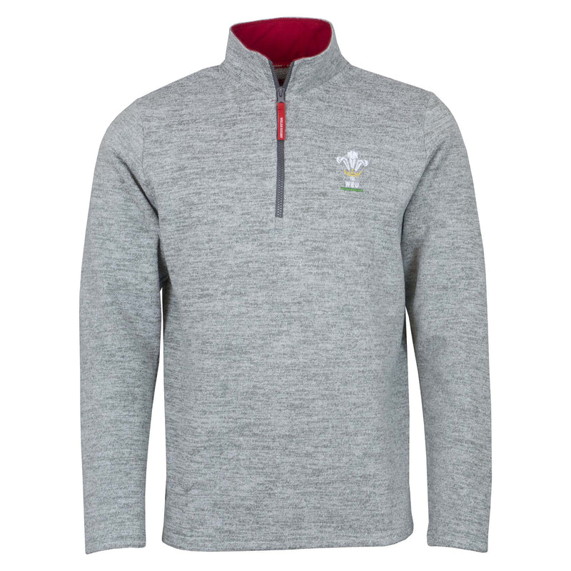 Wales Rugby Kids Zip Neck Sweater - Six Nations Rugby