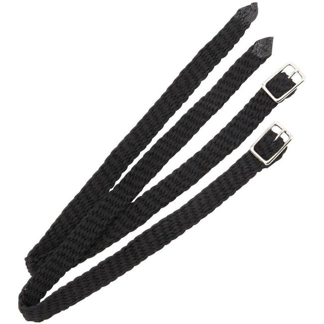 Shires Black Plaited Nylon Spur Straps 707