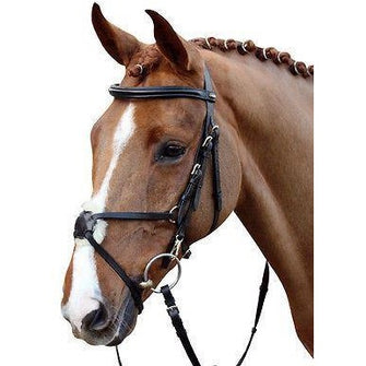 HKM Real Leather Mexican Grackle Bridle With Reins