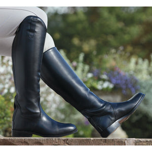 Shires Norfolk Long Black Leather Boots 921F Sale