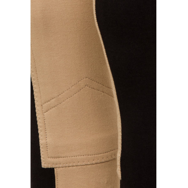 GS Equestrian Ladies Jodhpurs Black/Beige