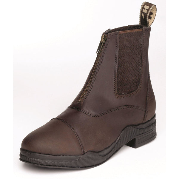 HyLAND Wax Leather Zip Boots
