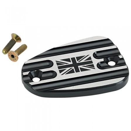 Triumph Front Master Cylinder Cover Union Jack - Black