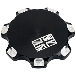 Joker Machine Billet Fuel Cap Union Jack - Black
