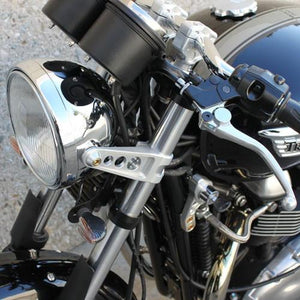 Joker Machine Headlight Brackets - Chrome