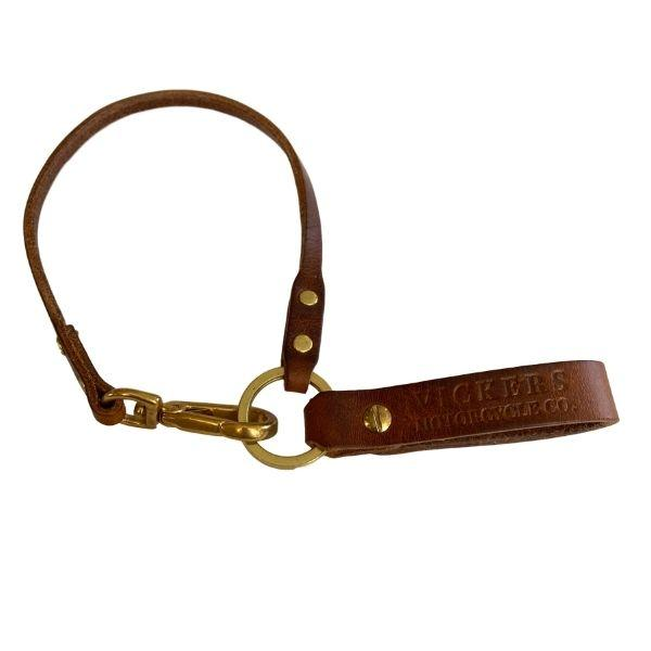 Vickers Motorcycle Co. Leather Lanyard