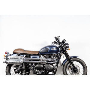 "The ""Cafè Racer"" Leather slim seat - Brown"