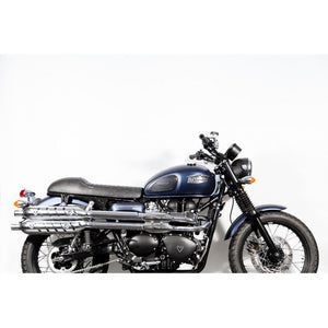 "The ""Cafè Racer"" Leather slim seat - Black"