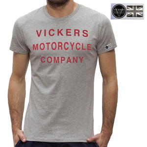 Vickers Motorcycle Co. Vintage Style Short Sleeve T Shirt