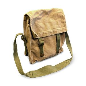 Vintage Style Army Shoulder Bags - Khaki or Black