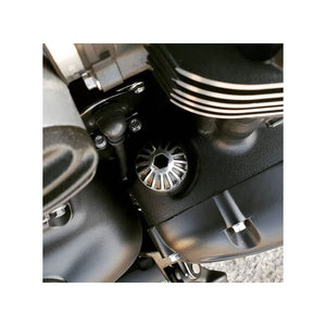 Engine Oil Filler Cap - Roswell - Contrast Black/Polish