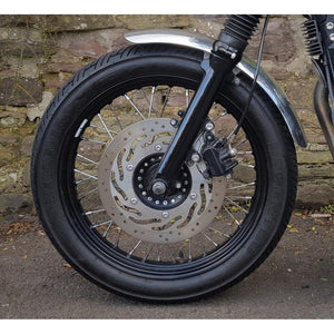 Front Mudguard - Spoke Wheels - Brushed Aluminium
