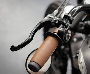 BAAK - Leather covered handlebar grips