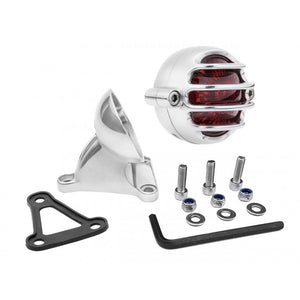 LED Tail Light - Lecter Style + Fender Mount Kit - Polished