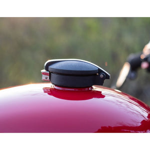 Monza Fuel Cap Kit for Triumph and HD - Black/Contrast Polished