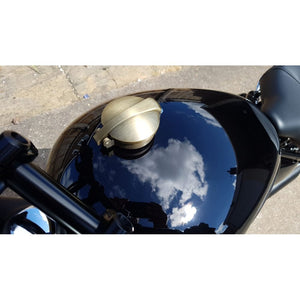 Monza Fuel Cap Kit for Triumph and HD - Brass Plate