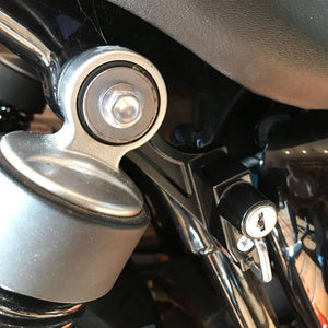 Helmet Lock for Liquid Cooled Triumphs