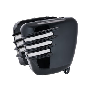 Triumph Bonneville Side Panels - Ribbed - Gloss Black