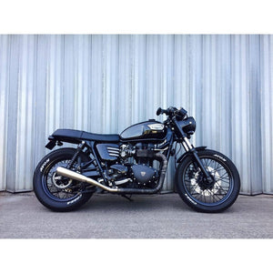 Triumph Bonneville Side Panels - Ribbed - Matt Black