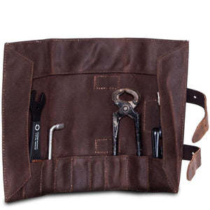 Leather & Waxed Cotton Tool Roll