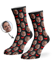 Face Hearts Socks