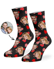 Retro Hearts Socks