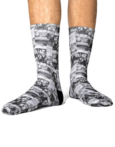 Black & White Photo Collage Socks