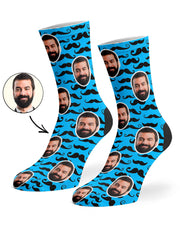 Moustache Pattern Socks
