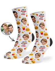 Burger To My Fries Socks