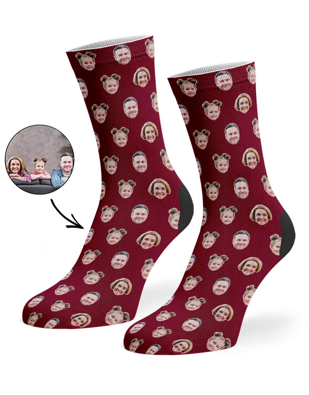 Family Face Pattern Socks