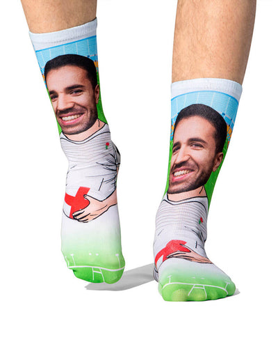 Rugby Player Socks