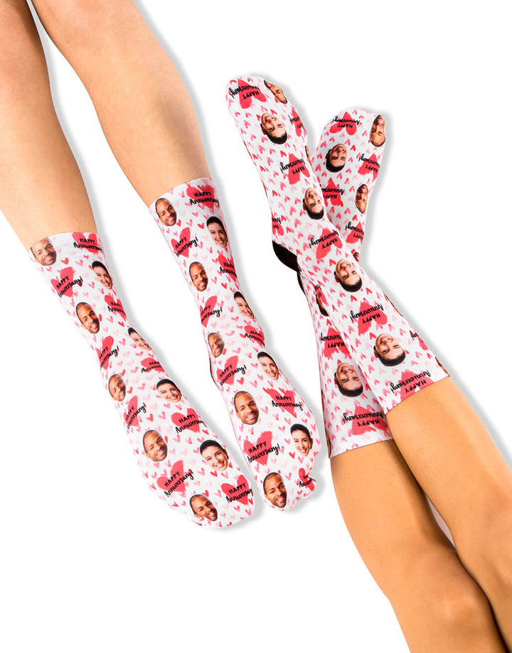 Happy Anniversary Hearts Socks Set