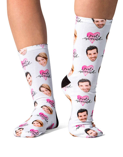 Just Married Cute Face Socks