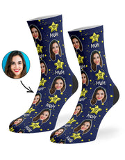 Super Star Mum Socks