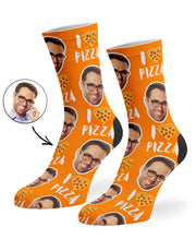 I Love Pizza Socks
