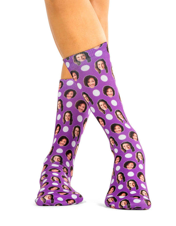 Best Friend Polka Face Socks